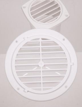 Ventilationsgitter, sort, udenfor: 164mm, rund