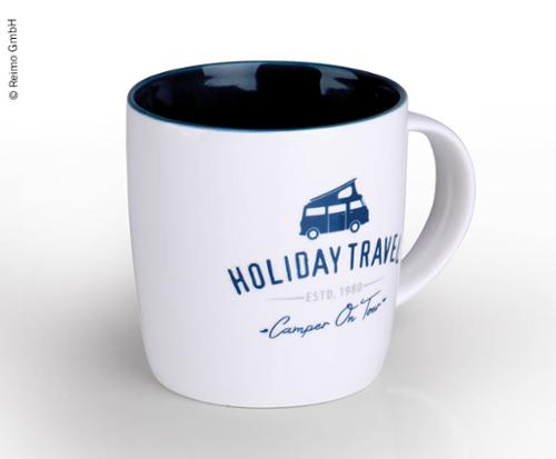 "Tasse ""HOLIDAY TRAVEL"" en New Bone China de haute qualité pour 340ml"