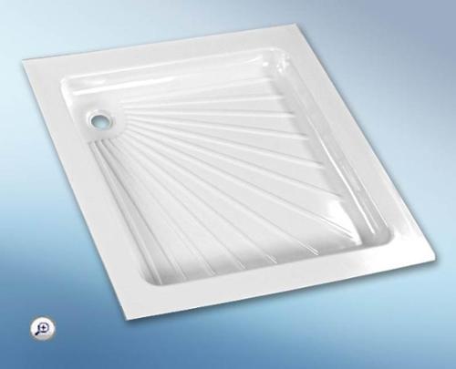 Plastbruser bakke hvid, 665 x 655 x 80 mm