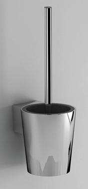 Toiletbørsteholder rustfrit stål forkromet 140x140x440mm