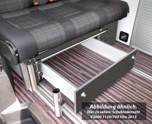 Tiroir de rangement sous banquette-lit VARIOTECH 3000 pour VW T6/T5 CityVan