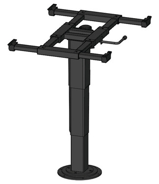 single column lift table 340-715mm, upper and lower height