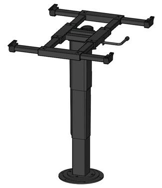 Enkelt søjle løft 340-715mm, top og nederste højde