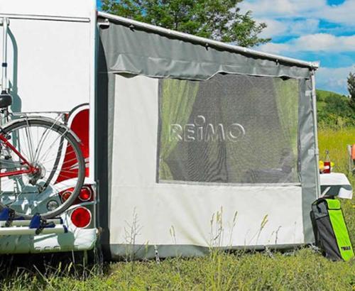 Gardinenset für Markisenvorzelt Thule Omnistor SAFARI RESIDENCE in Grau
