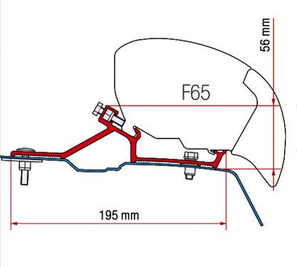 Markisen-Adapter für F 65S Renault Master / Opel Movano ab Bj. 2010 für L2-H2