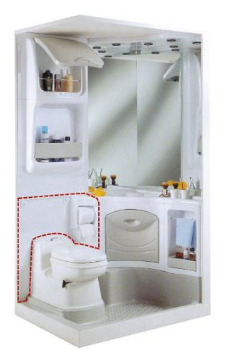 Rückwand 2000 für Thetford Toilette C 200