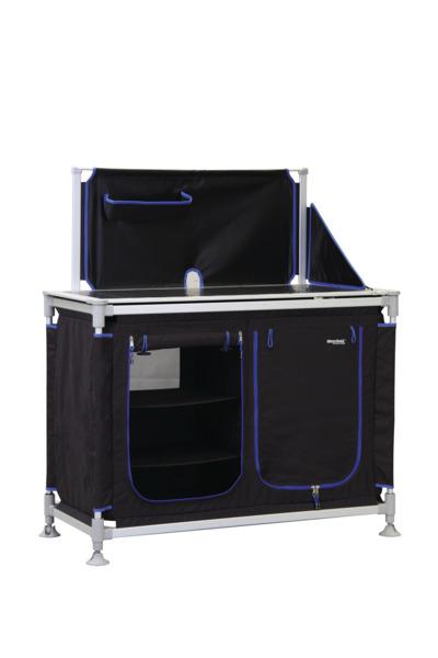 Campingschrank ModuCamp Modul 2, 85x113x49cm, schwarz/blau