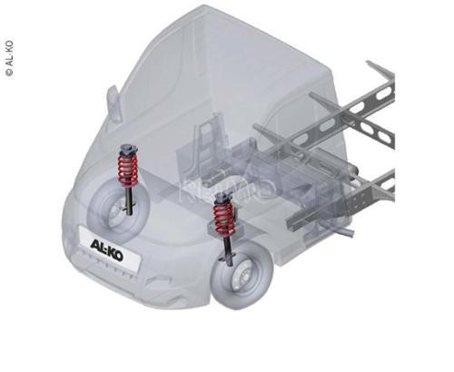 AL-KO Comfortophanging 40 Zwaar voor Fiat Ducato Chassis 2006 en nieuwer