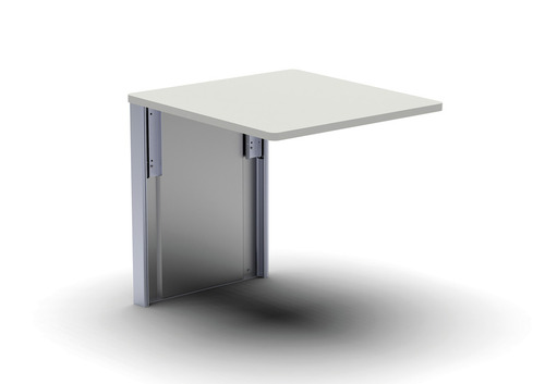 Table pliante murale pour fourgon, 600x460 mm