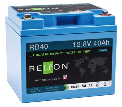 Lithium iron phosphate battery from 20-150 Ah / 12 Volt