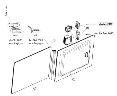 S3/4 Fenster-Ersatzteile - Verschluss Schiebefenster
