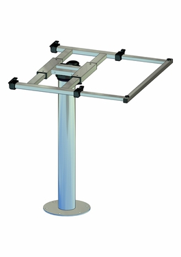 Columna de mesa con giro y desplazamiento H700mm aluminio
