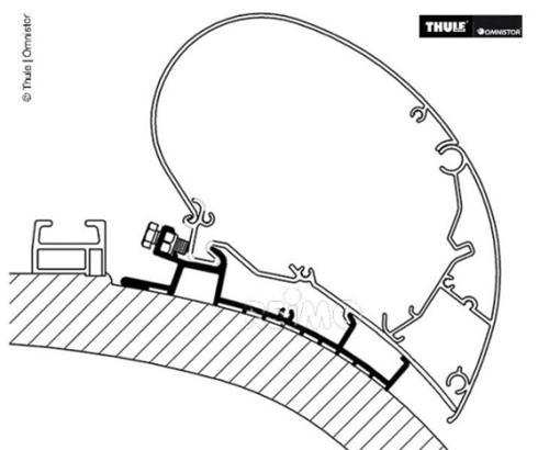 Markisen Dach-Montage-Adapter für Carthago Chic - Mark.Adapt.Cart.Chic 4m
