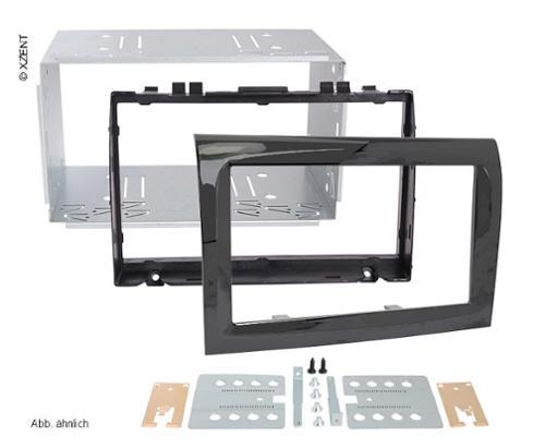 Double DIN aperture for Citroen/Fiat/Peugeot