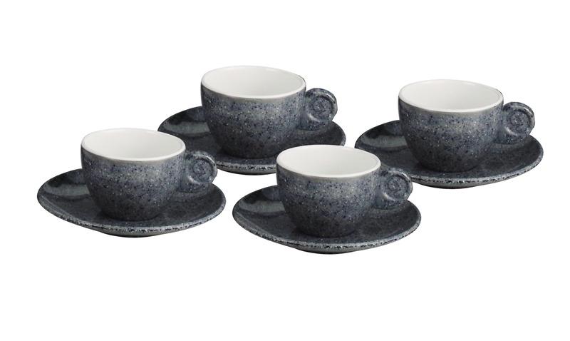 Melamine espresso cups set GRANITE for 2 persons, Gimex