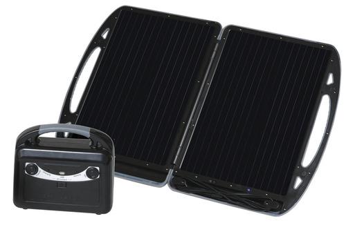Mobile Carbest solgenerator med 13W modul og batteri 12V / 7A