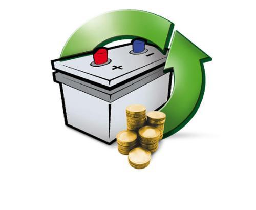 Deposit for acid battery