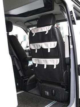 Arrangør til førersæde med 4 lommer, imiteret læder