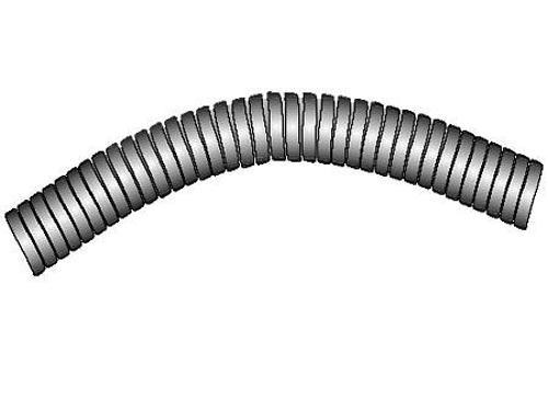 AG125 Metal extension hose 2m, Ø25mm
