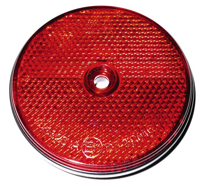 Refleksorer runde røde (2 stk.)