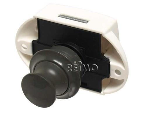 Push Lock - Möbelschloß Grau