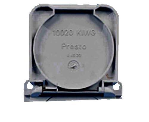 Klappdeckel f. Einbausteckdose 230V grau