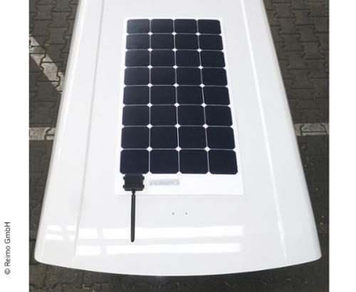 Solarpanel SD Caddy Maxi montiert