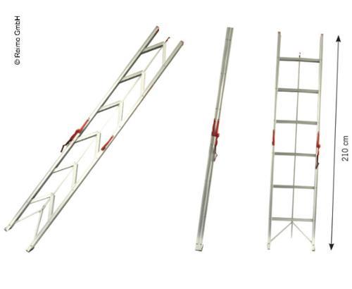 CARBEST faltbare Leiter mit 6 Stufen, 150kg belastbar, aus Aluminium, 2.1m lang