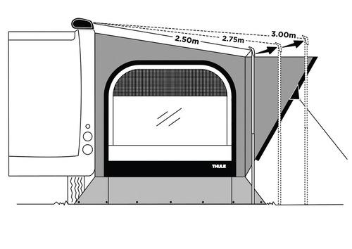 Montageset für Markisen mit Auszug über 250 cm