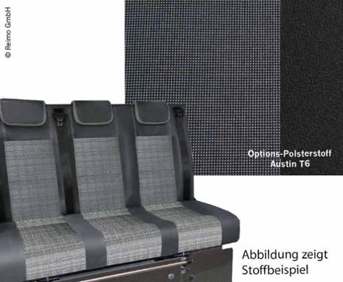 Sleeping bench VW T6/5 V3100 Gr 8 rigid 3-seater cushion Austin T6 2fbg