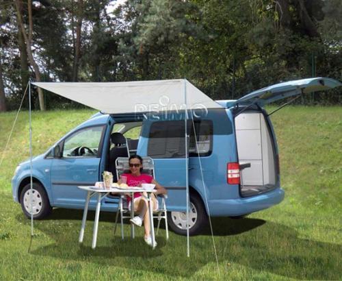 Sonnenvordach CHARLYNE 2,2x2,4m für Minicamper mit langem Radstand
