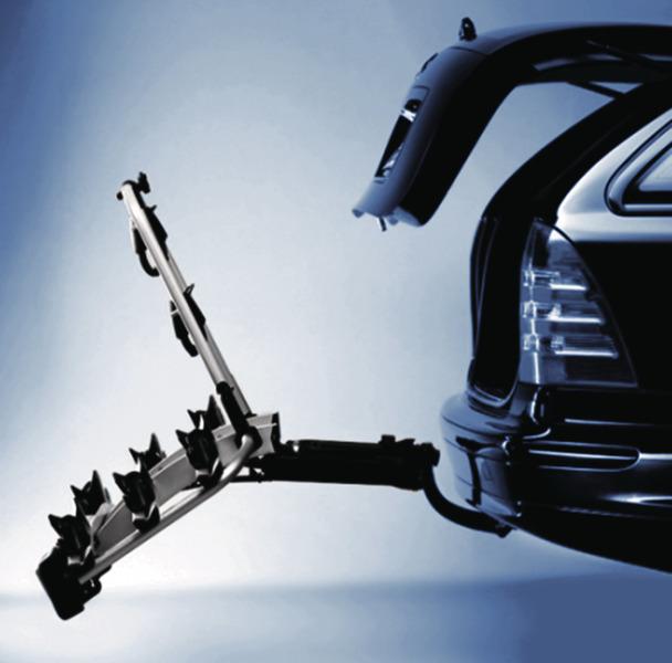 Heckträger Strada DL abklappbar für Anhängerkupplung für 3 Fahrräder