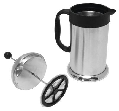 French Press Kaffeebereiter Cafeterie silber 1,0 Liter, Edelstahl