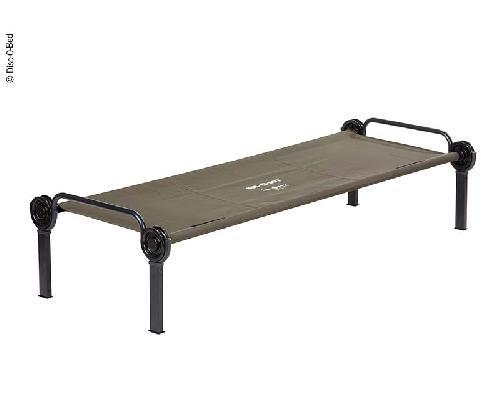 Tek kişilik yatak Sol-O-Cot yeşil 208x82.5x92.5cm, esnek 136kg