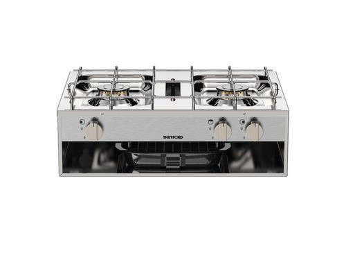 Gaskocher 2-flammig 2x 1,5 kW, plus Grillfunktion