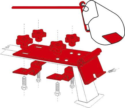 Adapter F35 Standard Reling/Gepäckträger