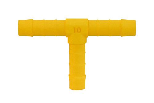 Trójnik do węża 10mm 2szt. Biało żółty