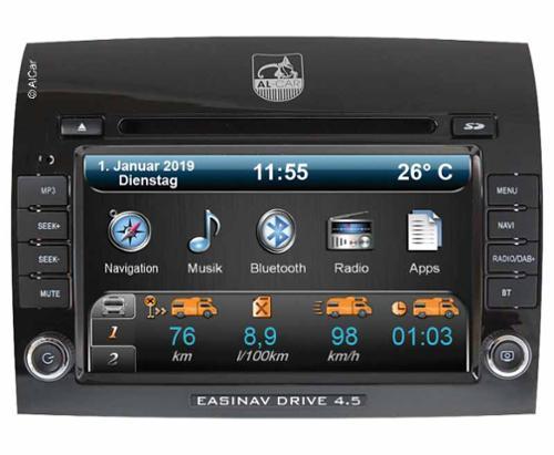 Navigationssystem EasyNAV Drive 4.5 DAB+ für Fiat Ducato