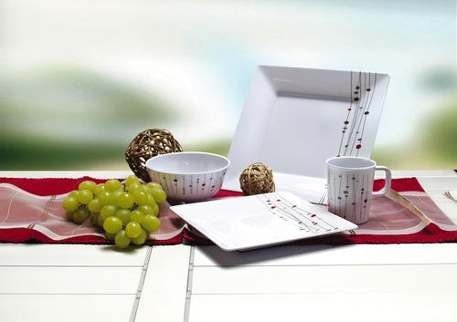 Melamine Tableware, Set MODENA Camp4, For 4 People/16 Parts