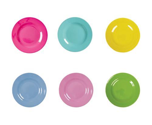 Tallerkensæt RICE 6 stk., Ø20cm, 6 farver
