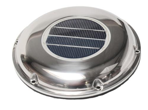 Solarventilator 215mm, Edelstahl