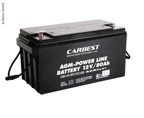 AGM Batterie 80Ah Carbest 350x167x179mm