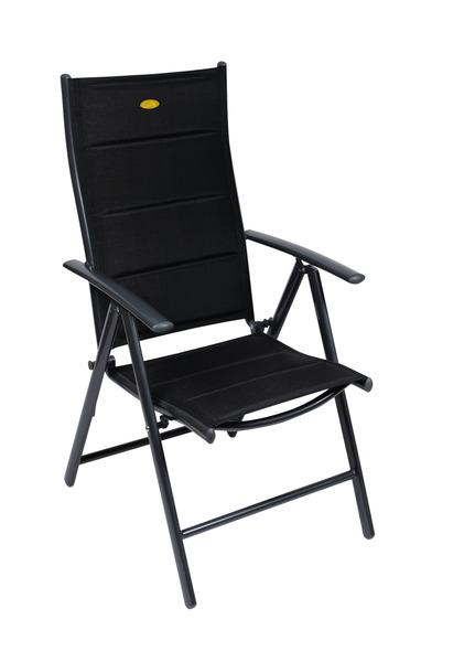 Fauteuil de camping Ischia Mega Comfort noir