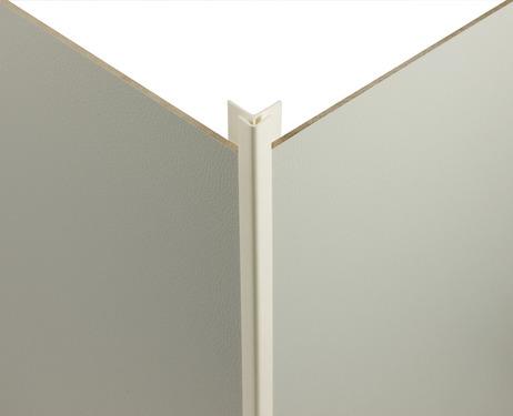 Eckverbindungsprofil 90° dunkelgrau für 3mm Verkleidungsplatten -außen-