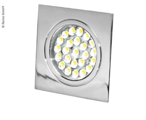 LED Spot 12V, 1,6W, 24LED, chrom