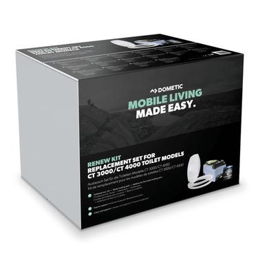 Renew Kit, WC-Sitz und Deckel, Spülringabdeckung, Fekalientank und PowerCare Tab