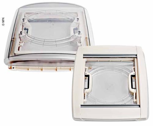 Tagdæksel 40x40cm ramme: hvid med LED