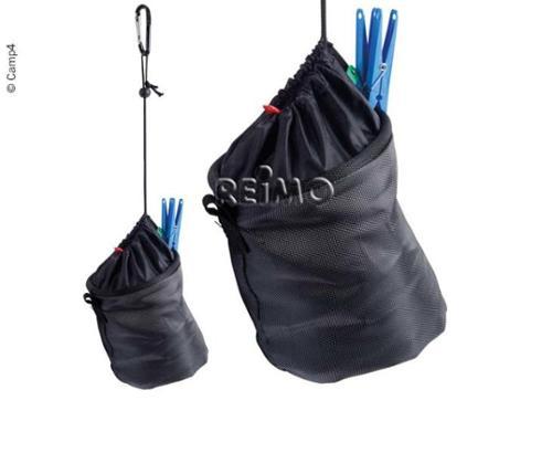 Klips taske sort til hængende