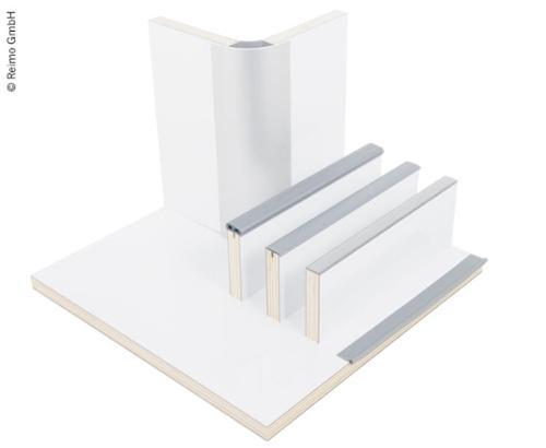 Möbelbauplatte Hochglanz Weiß, HPL, 1/4 Platte