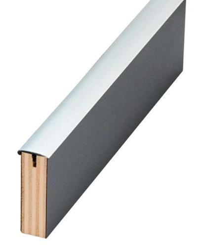 T-Umleimer, einseitig mit Nase. Für Plattenstärke 15mm. - T-Uml.m.Nase dgrau 5m SB